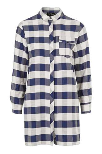 dress shirt dress gingham topshop button up