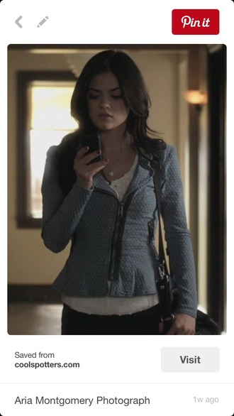 jacket lucy hale polka dots pretty little liars
