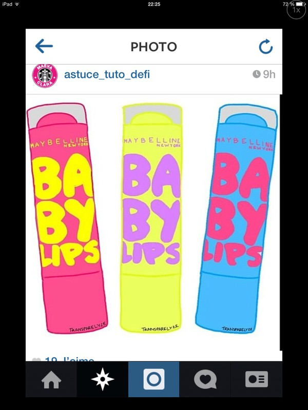 make-up baby lips