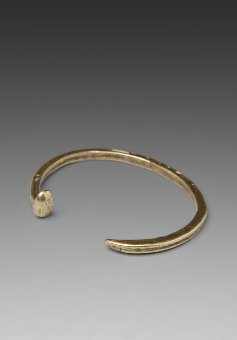 GILES & BROTHER Skinny Railroad Spike Cuff in Brass at Revolve Clothing - Free Shipping!