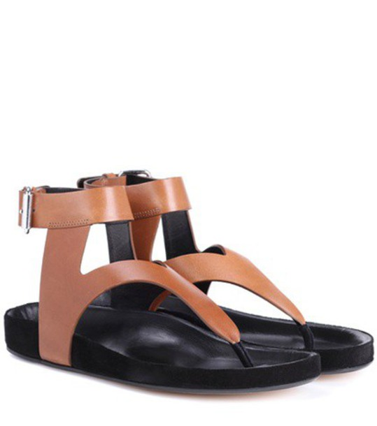 Isabel Marant sandals leather sandals leather brown shoes