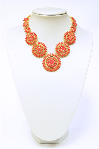 Ladies Leavitt Flower Necklace at Pop Couture UK