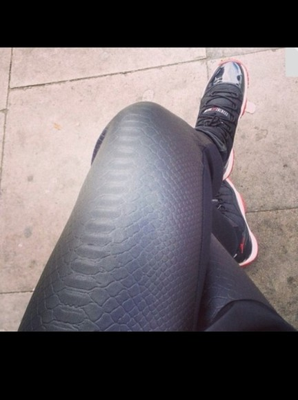 pants snake print leggings leather black snake print pants