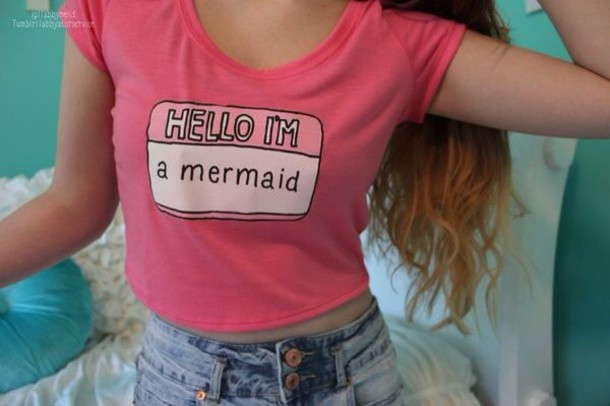 shirt mermaid pink