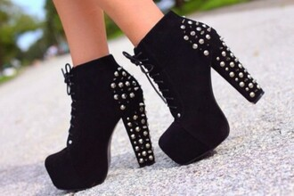 shoes black  high heels jeffrey campbell