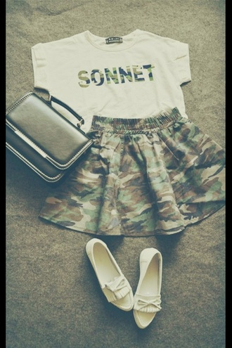 shirt camouflage camo skirt