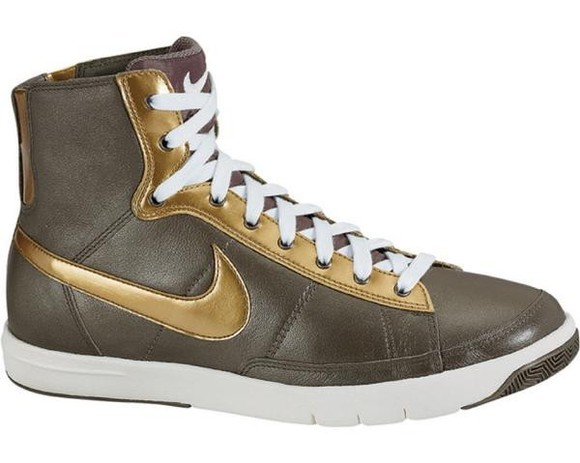 green shoes shoes nike khaki golden shoes gold 2008 nike blazers women