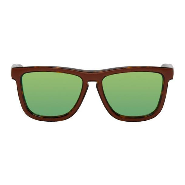 Loewe Brown & Tortoiseshell Square Padded Sunglasses