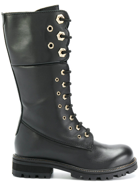 women boots combat boots leather suede black shoes