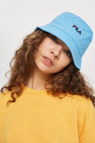 hat bucket hat blue