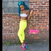 shoes,neon colours