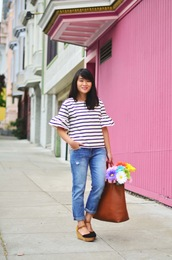 daily disguise,blogger,shirt,pants,jeans,shoes,bag,make-up