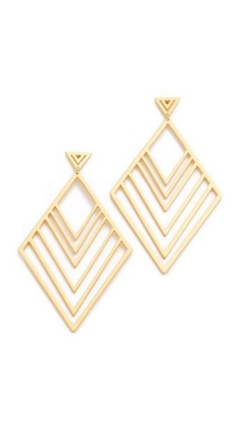 Gorjana Liv Tiered Drop Earrings - Gold