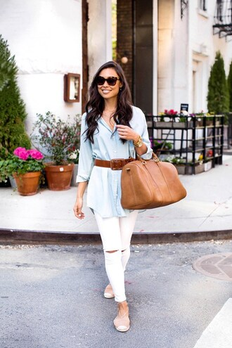 with love from kat blogger bag jeans shoes belt jewels sunglasses