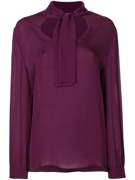 ETRO blouse women silk purple pink top
