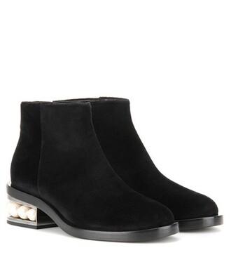 embellished boots ankle boots velvet ankle boots velvet black shoes