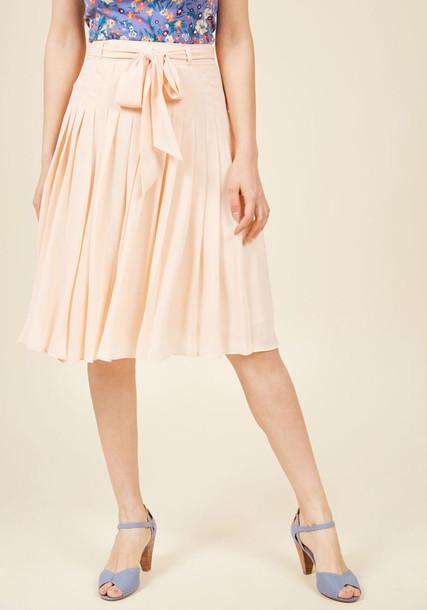 Db17050008 skirt midi skirt gorgeous midi brunch peach white