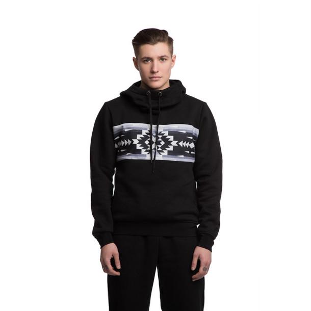 black hoodie streetwear