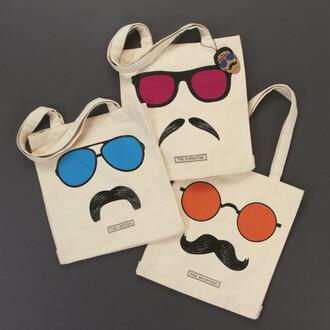 moustache bag tote bag