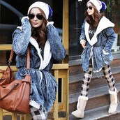 coat,denim,fur,jacket,trench coat,winter outfits,hooded