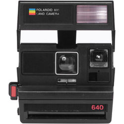 Impossible Polaroid 600 Square Instant Camera (Black) 1488 B&H