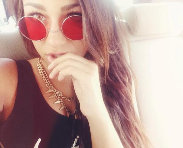 jewels necklace andrea russett gold chain spikes pretty jewelry