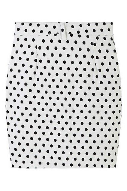 abaday | abaday Polka Dots Print High-waist Bodycon Skirt, The Latest Street Fashion