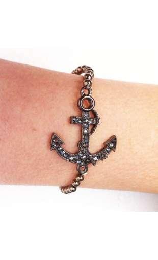 Metallic anker armband