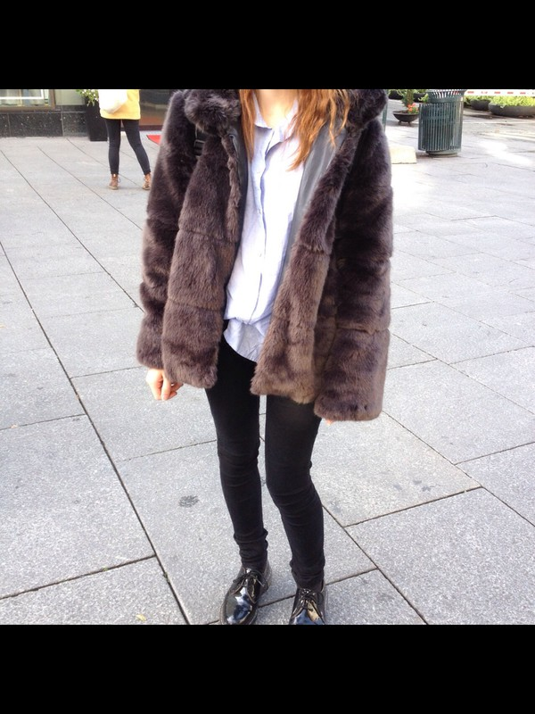 Vintage faux fur jacket — img 5