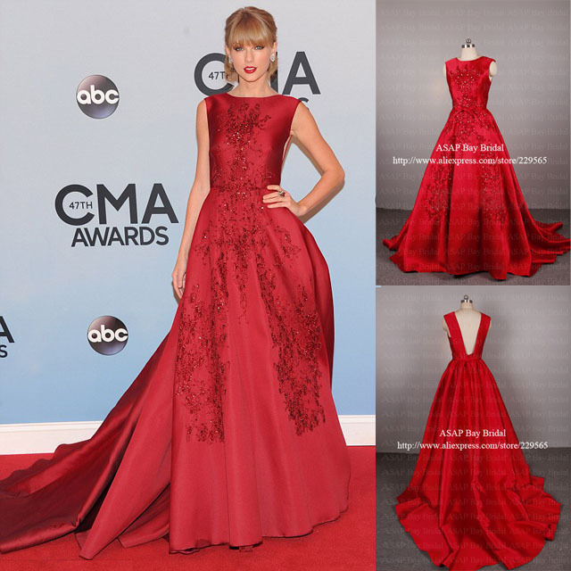 Color Taylor Swift Dress 2013 CMA Awards Red Carpet Dress Prom ...