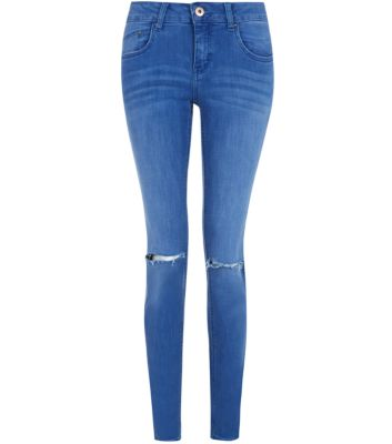 Blue Authentic Ripped Knee Skinny Jeans
