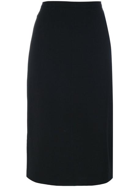 Max Mara skirt pencil skirt women classic spandex black wool