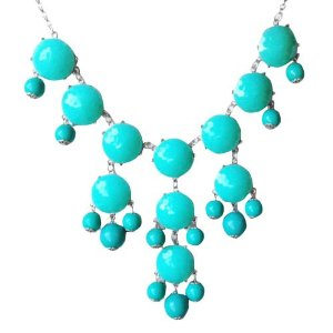 Amazon.com: Turquoise Bubble Necklace in Silver Tone (Fn0508-S-Turquoise): Jewelry