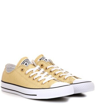 sneakers leather stars gold shoes