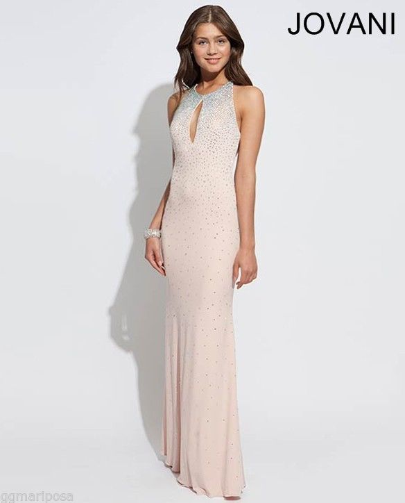 Jovani 90640 blush sexy evening prom dress gown size 4 new with tags