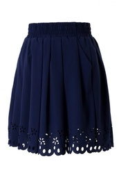 skirt,navy blue skirt