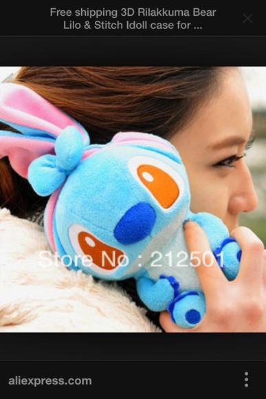disney phone case stitch lilo and stitch soft teddy bear phone case iphone 4 case