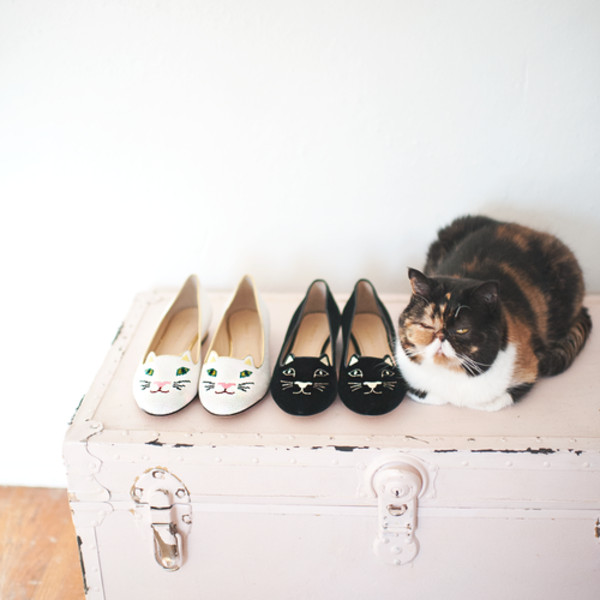 shoes romwe cats black white animal