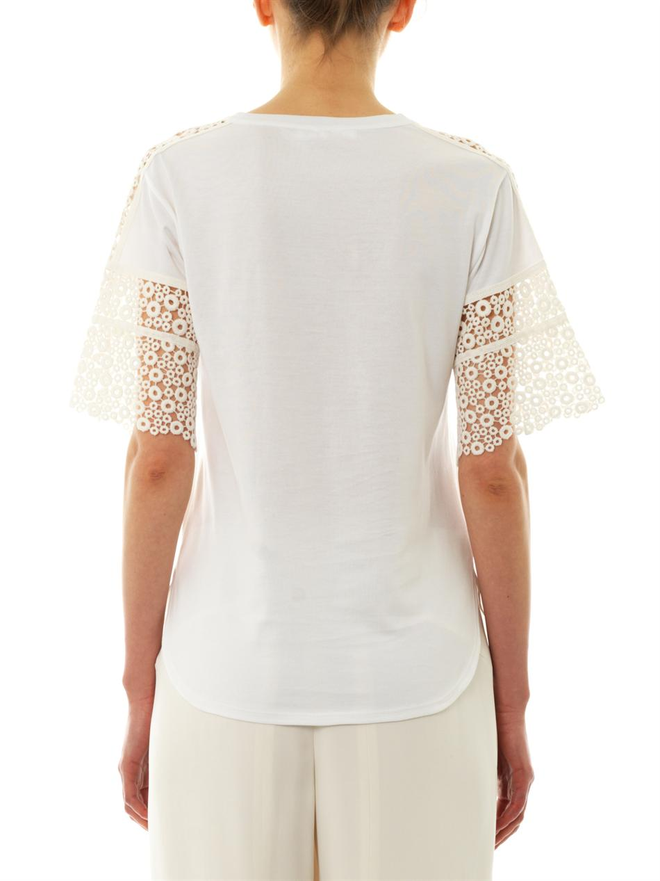 Lace-sleeve T-shirt | Chloé | MATCHESFASHION.COM