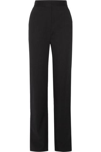 pants black silk