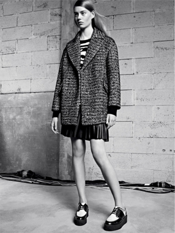 coat sandro f/w 2013 fashion lookbook sweater skirt shoes