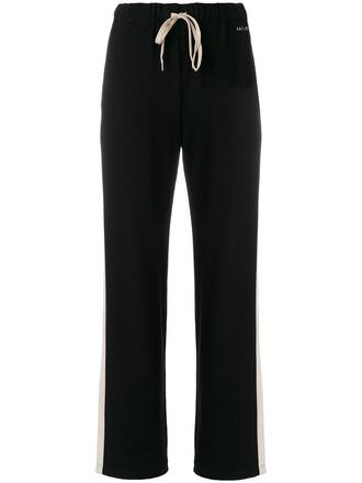 women spandex drawstring black pants