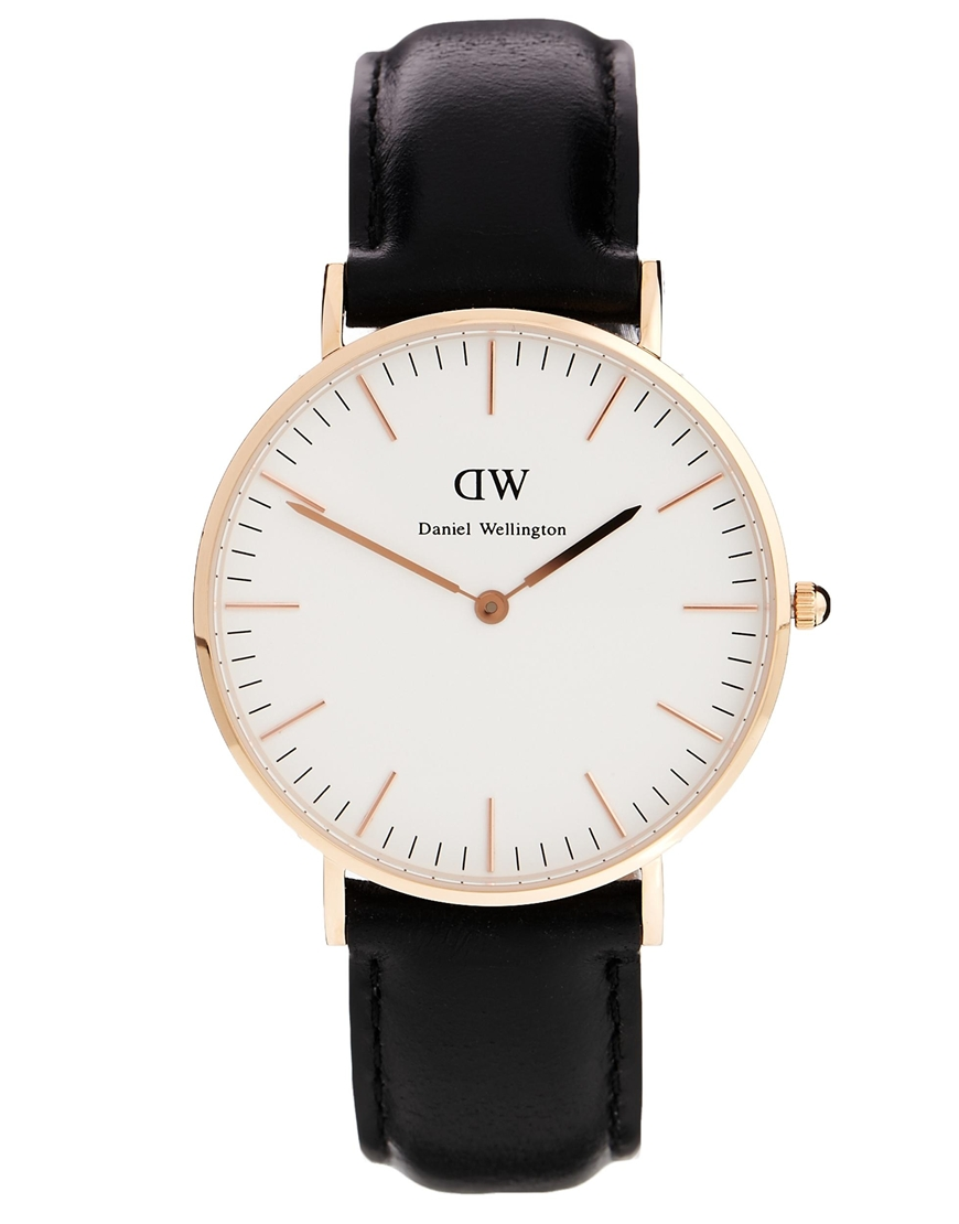 Daniel Wellington Classic Black Sheffield Large Watch at asos.com