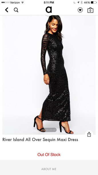dress river island sequin long dress
