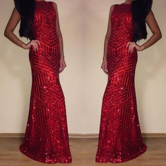 red dress long dress sparkle dress
