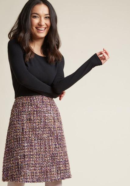 SM10189 skirt fancy long lovely fabulous gold silver black purple knit