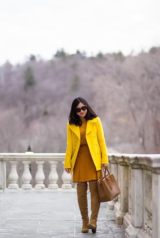 fastfood&fastfashion blogger top skirt bag shoes blazer boots handbag winter outfits