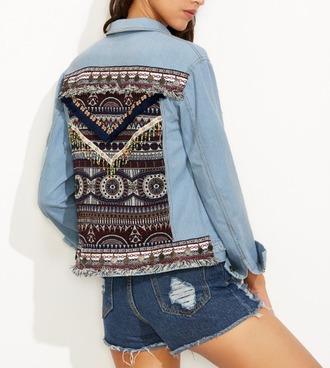 jacket girl girly girly wishlist denim pattern denim jacket