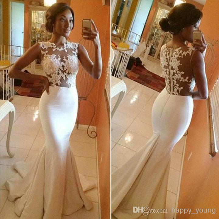 Lace Celebrity Dresses - Discount Sleeves Backless White Lace ...