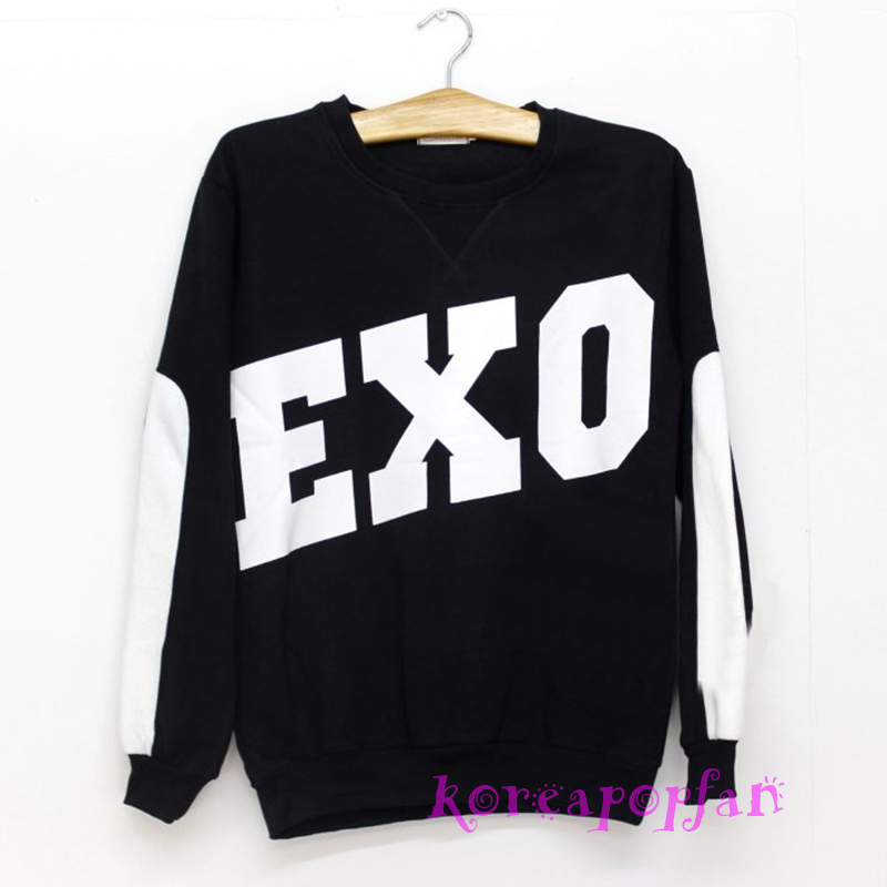Exo Miracles in December Xiumin Luhan Sehun Kris Black Sweater Hoodie KPOP New | eBay